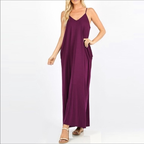 Plus Size Maxi dress with pockets NWT Boutique